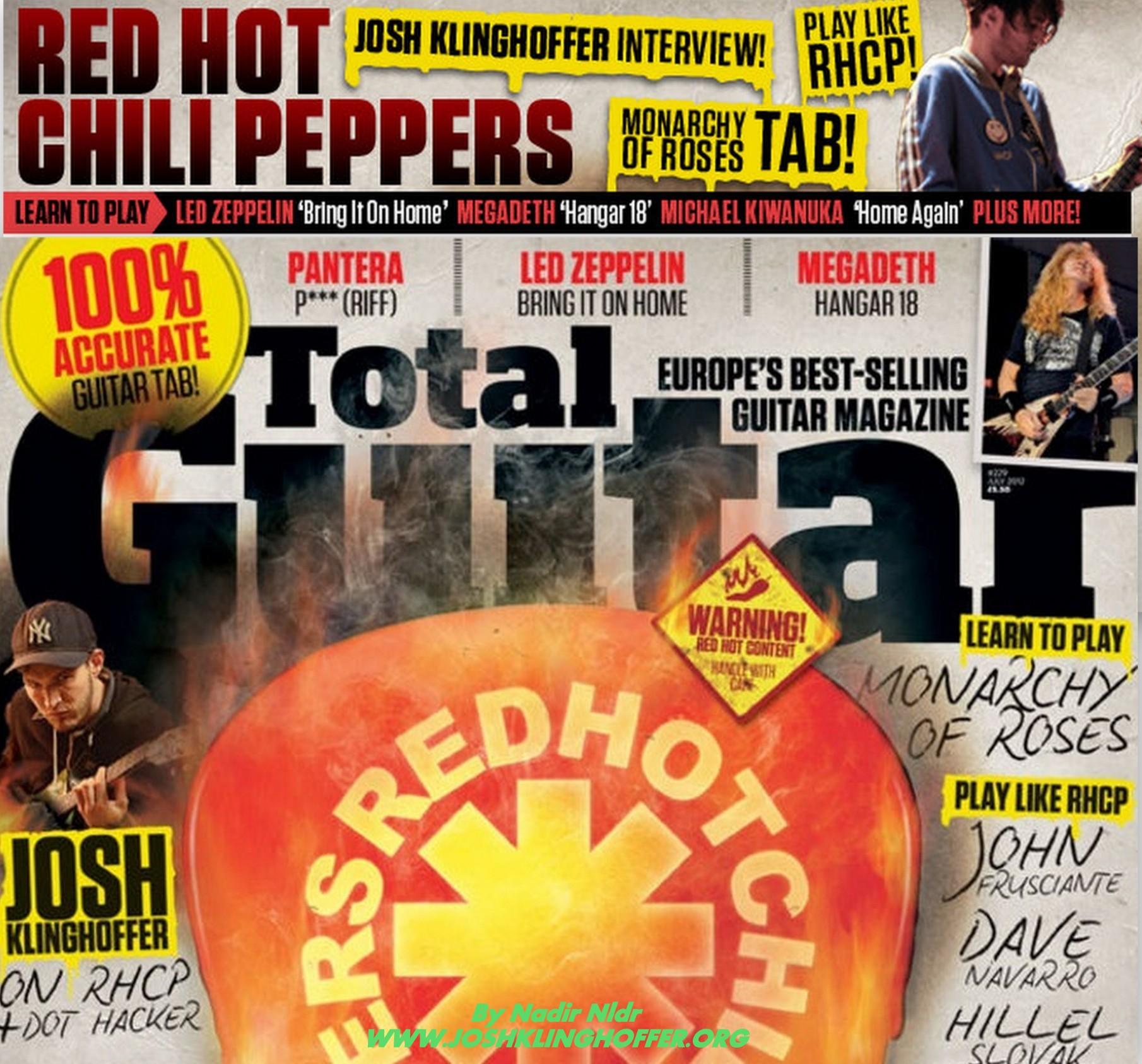"Josh Klinghoffer on ""Total Guitar"" Magazine – June 2012"