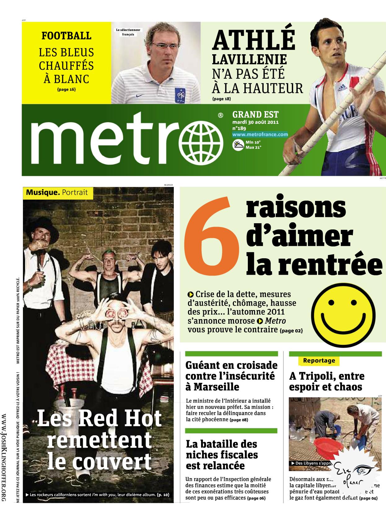 Metro Aug. 30, 2011 (France)