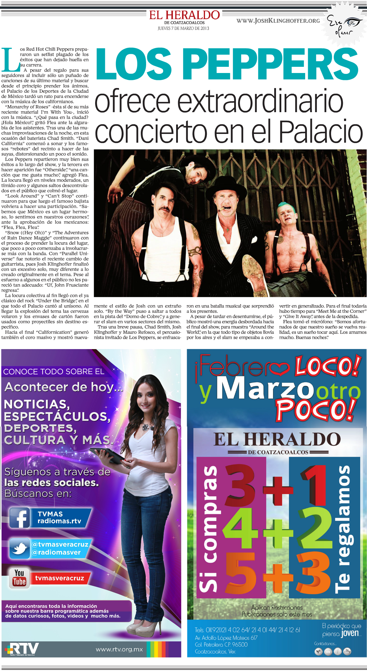 El Heraldo – March 2013
