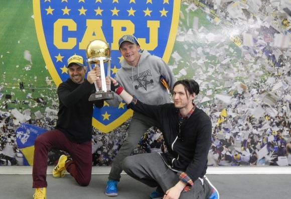 Josh Klinghoffer y Flea en la Bombonera (31.03.2014)